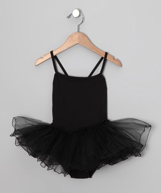 Black Skirted Leotard - Toddler & Girls / WWW. ZULILY.COM